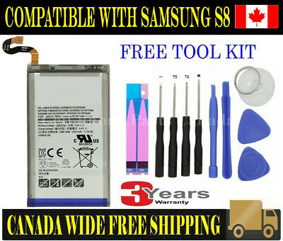 Brand NEW Original OEM Replacement Battery Samsung Galaxy S8 3000mAh with Tools