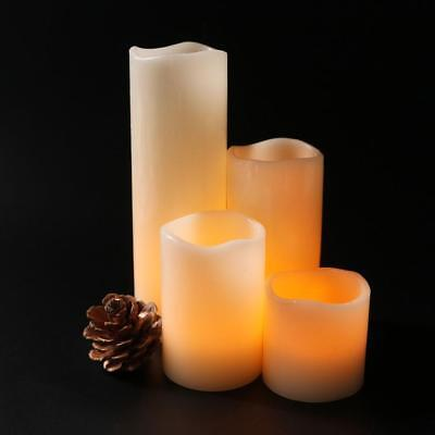 LED Flameless Candle Light  Romantic Cylindrical Flickering Wedding Party Decor
