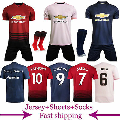 2018-19 Football Kits Soccer Jersey Shirt Short Sleeve Kids Youth Suits +Socks