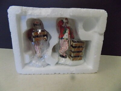 Coca Cola Department 56 Snow Village 2 Delivery Men 54801 Retired 1994 New
