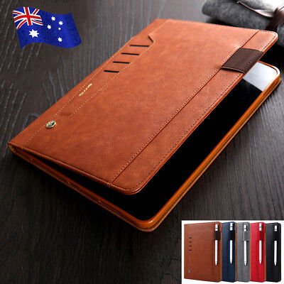 For 2018 iPad Pro 11 inch Smart Leather Flip Case Card Slot Stand Folio Cover AU
