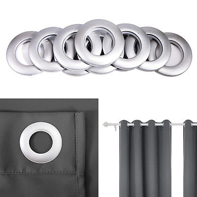 Curtain Ring Circular Eyelet Round Rings for Hanging Curtains Poles Rods Silver