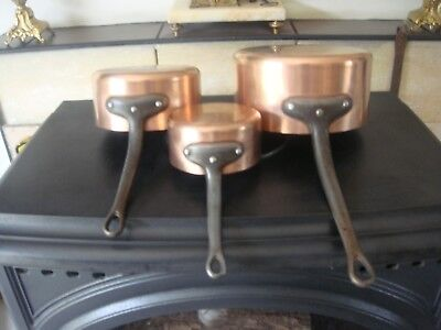 PROFESSIONAL TIN LINED COPPER PANS MADE IN FRANCE 2mm Fabrication Francaise