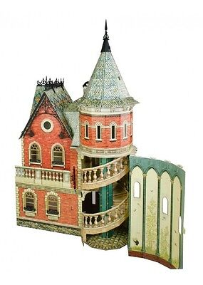 Cardboard model kit. Victorian doll house. Scale about 1/14. Type III.