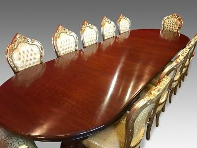 EXQUISITE 12.ft ANTIQUE WILLIAM IV BRAZILIAN MAHOGANY TABLE PRO FRENCH POLISHED
