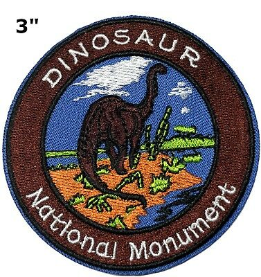 Dinosaur National Monument Park Patch Souvenir Travel Embroidered Iron / Sew-on