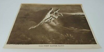 The First Easter Dawn Angels The North American Paper Print Insert B. Hall 1916