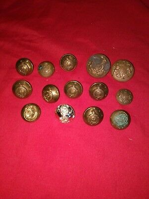 job lot WW2 Royal Army Service Corps pioneer corps Deer Buttons coat of arms