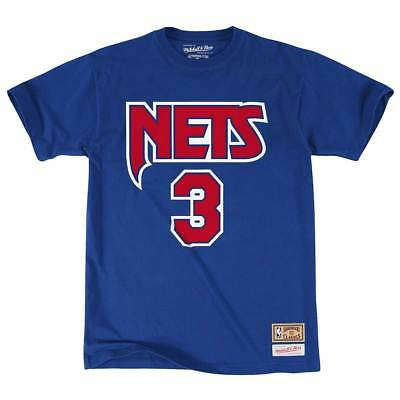 Mitchell & Ness Drazen Petrovic #3 New Jersey Nets Name & Number NBA Tee Blau