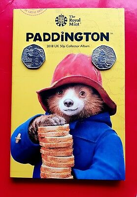 50p Paddington Bear Coin set At Station & Palace with Royalmint brand new album