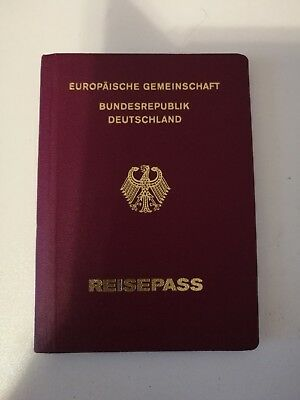 Vintage Cancelled Western Germany German Passport Travel Document Reisepass