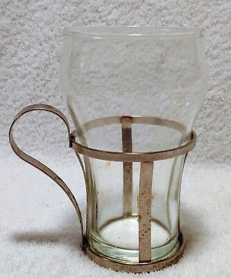 Vintage 1950s Lily Cup Holder with Original Soda Fountain Glass