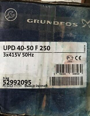 Grundfos UP UPD 40-50 F 250 Old Shape Replacement Head 415v 52992095 #880/1129