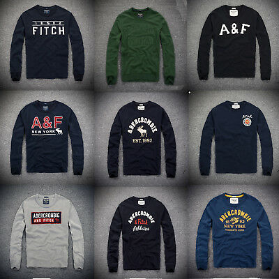 NEW Men AF Muscle Fit Abercrombie & Fitch long sleeve t-shirt by Hollister UK