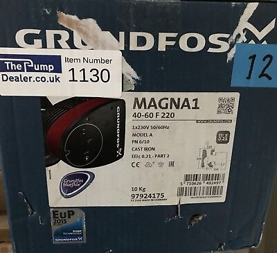 Grundfos Magna1 40-60F 1PH Flanged Pump Heating Circulator 240v #1130