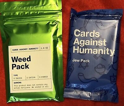 Cards Against Humanity Weed & Jew Pack Funny Game Adult Humor.
