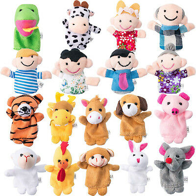 Jovitec Finger Puppets Set 18 Pieces Chinese Zodiac Animal Style Cartoon and