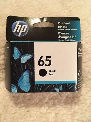 HP 65 Black Only Ink Cartrige New In Box June 2020