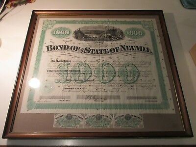 Bond Of The State Of Nevada  -  1871