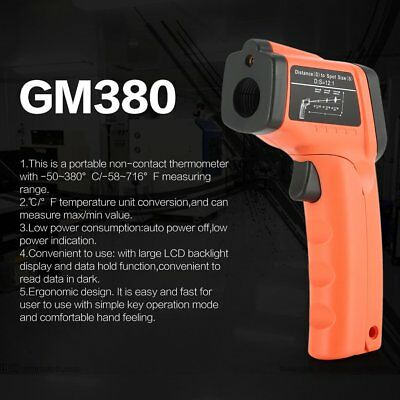 GM380 Digital Handheld LCD Infrared Thermometer Temperature Gun Non Contact WS