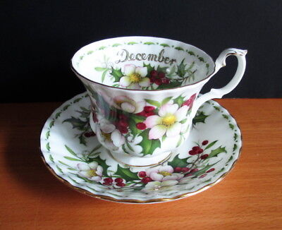 Royal Albert Cup & Saucer Christmas Rose December Flower of the Month England