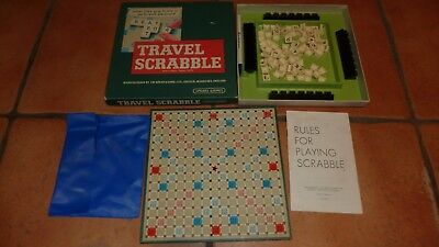 Vintage Travel Scrabble Spears Games Complete Boxed Classic Word Game Retro
