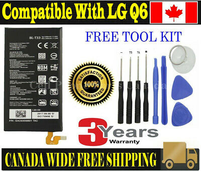 Brand NEW Original OEM Replacement Battery LG Q6 with Tools