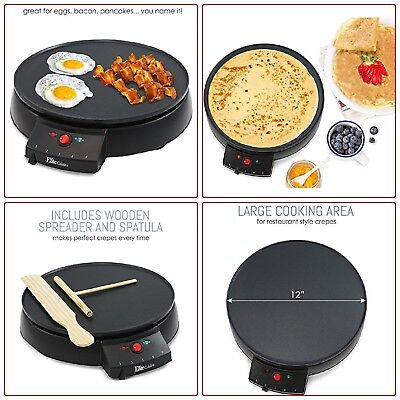 NEW Crepe Maker Electric Machine Pancake Griddle Non-Stick Pan Cooking Breakfast