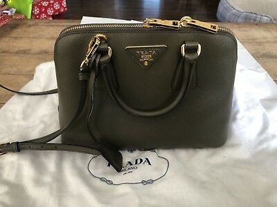 a602bf5e69a2 Prada Saffiano Lux Small Promenade corssbody top handle bag Calf Leather