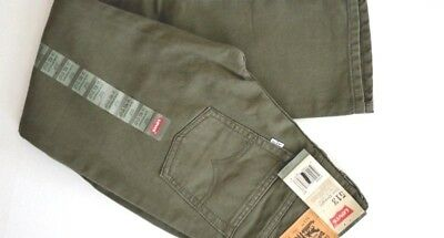 Boys Levi's 513 Slim Fit Straight Leg Ivy Green Cord Jeans Pants Size: 14 or 16