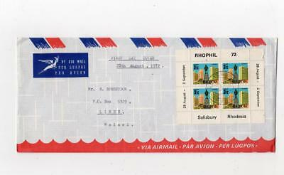 RHODESIA: 1972 RHOPHIL '72 first day cover to Malawi (C37179)