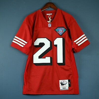 Hot 100% AUTHENTIC DEION Sanders Mitchell Ness 1994 49ers NFL Jersey  free shipping