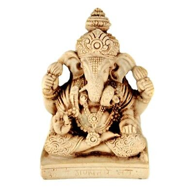 "GANESHA STATUE 3"" Small White Resin Hindu Elephant God NEW Indian Lord Ganesh"