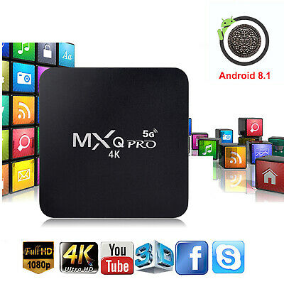 Hot MXQ PRO Quad Core Android 7.1 Smart TV Box 1+8GB HDMI WIFI 4K Media Streamer