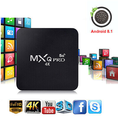 MXQ PRO Quad Core Android 8.1 TV Box 1+8GB HDMI WIFI 4K Media Streamer 5G Wifi