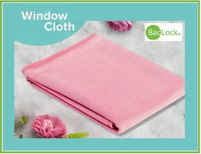 NORWEX WINDOW POLISHING CLOTH w/BacLock Chemical-free Window Cleaning! in PINK