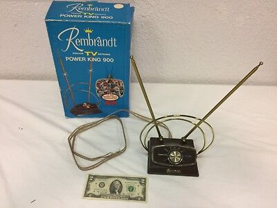 Vintage Rembrandt ANTENNA - Indoor TV Power King 900, Color B/W - USED, with Box