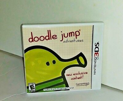 Nintendo 3DS Doodle Jump Cartridge Case With Manual 7+