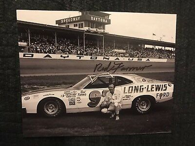 Red Farmer NASCAR Signed 8 X 10 Photo Autographed