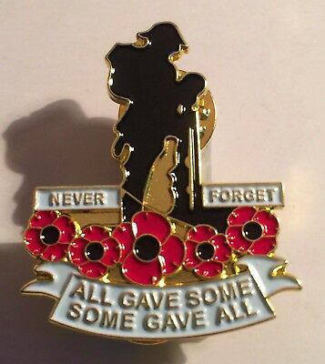 Red Poppy, Never Forget, Brooch, 11 - 11, ANZAC, Badge, Hat Pin, Lapel Pin. Gift