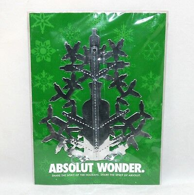ABSOLUT WONDER Snowflake Christmas Decoration 3D 2003 Sealed