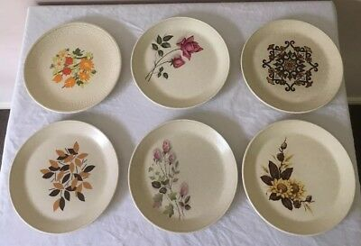 JOHNSON OF AUSTRALIA Side Plates  X 6 Different Patterns Very Good Condition