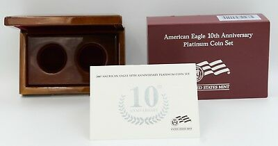2007 American Eagle 10th Anniversary Platinum Coin Set BOX ONLY