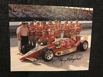 Johnny Rutherford Signed Indy 500 Indianapolis 8 X 10 Photo Autographed