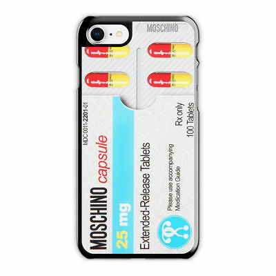 new product 2ad63 d5b1c MOSCHINO PILL PACK iPhone Case X 6 7 S 8 Plus, MOSCHINO iPhone Case ...
