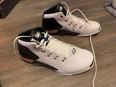 4bed18eb388 Air Jordan Retro 17 + Copper 832816-122 7.5-12 white black 11 1 best ...