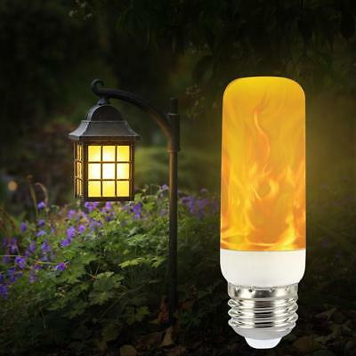 LED Flame Effect Simulation Nature Fire E14/27 Light Bulbs 2Modes Decor Lamp
