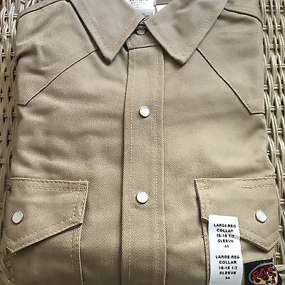 Rasco FR Flame Shield Khaki  Shirt  NWT