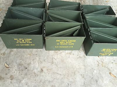 Pack of 3 AMMO Can Box US Military Surplus M2A1 Ammunition Metal Box 50 Cal