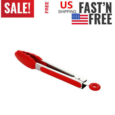 Silicone Stainless Pliers Food Tongs Salad bread Clamp Steak Clamp Kitchen Tools